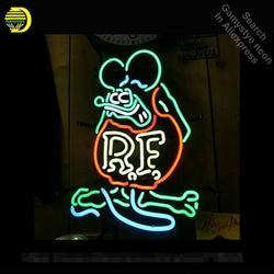 النيون ل فينك الفئران ماوس الرجعية RF أنبوب النيون تسجيل التجاري ضوء المرآب الحرفية مصابيح يعرض متجر ضوء النيون تسجيل VD