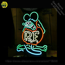 Neon Sign for Rat Fink Mouse RETRO RF Neon Tube Sign commercial Light Garage handcraft Lamps Store Displays neon light sign VD