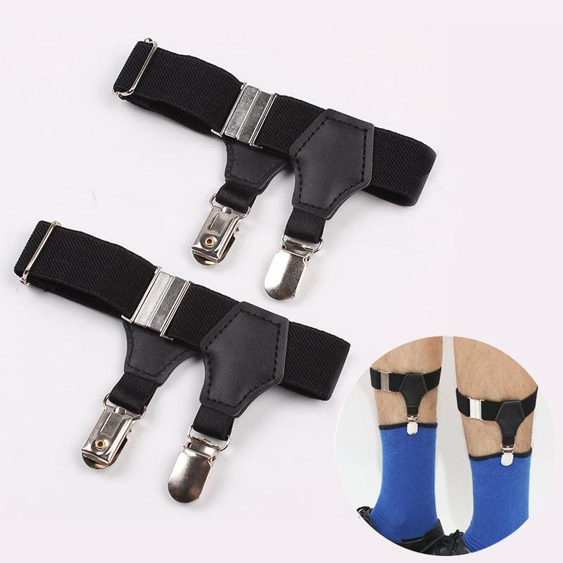 1 Paar Gute Qualität Männer Der Suspensorio Hosenträger 2,5 Cm Breite Verstellbar Doppel Ente-mund Clips Socke Strumpfbänder Für Männer Zubehör