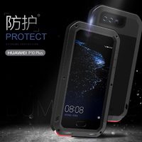 LOVE MEI For Huawei P10 Plus Case ShockProof Metal Aluminum Frame Silicon Luxury Phone Cases For
