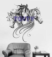Linellae Horse Design Art Vinyl Mural Wall Decal Animal Pattern Line Horse Room Decor Wall Sticker