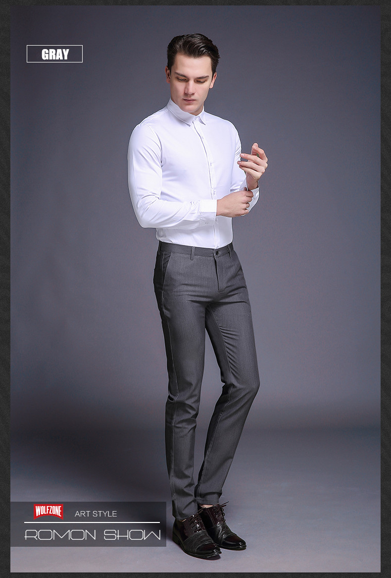 HTB1.KQ3XPb.heNjSZFAq6AhKXXar Fashion New High Quality Cotton Men Pants Straight Spring and Summer Long Male Classic Business Casual Trousers Full Length Mid
