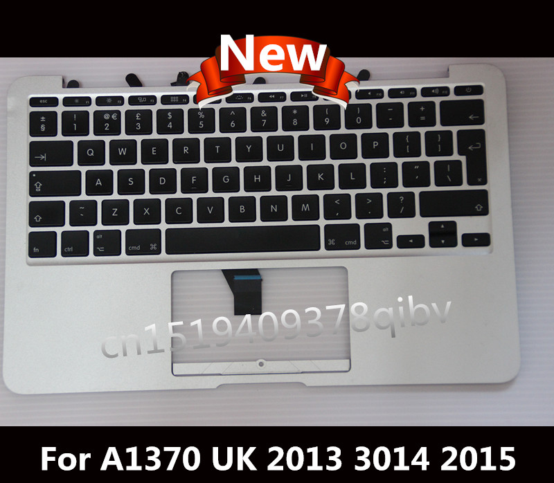 New 069-9392-B Topcase 11.6'' For Macbook Air A1370 A1465 Palmrest Top case with UK keyboard no Touchpad 2013 2014 2015 new topcase with no norway norwegian keyboard for macbook air 11 6 a1465 2013 2015 years