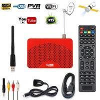 2018 Mini Tamaño Full HD 1080 P Satélite Digital DVB-S2 HD AC3 receptor Cccam IPTV Jugador m3u Powe Decodificador vu Sintonizador de Tv USB PVR