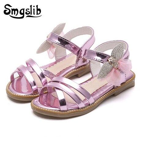sandalias de verao para meninas do bebe