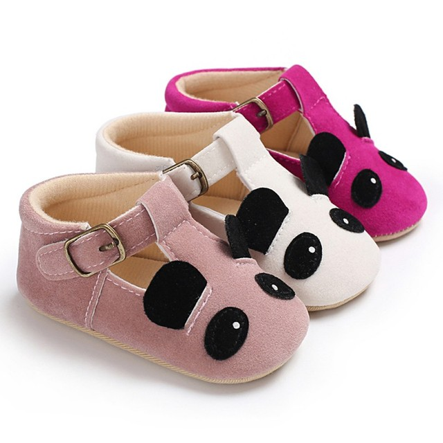 4a8dee9684d8ad 2018 Fashion Baby Shoes Panda Animal Soft Leather Soft Sole First Walkers Toddler  Baby Boys Girls Moccasins Crib Footwear Prewal