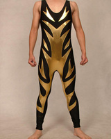 Cool Custom Gold Lycra Spandex Bodysuit Youth Gear Wrestling singlets Suits For Kids