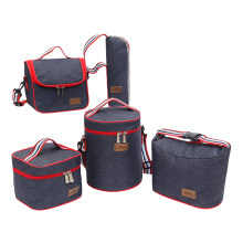 Denim Lunch Bag Kid Bento Box Insulated Pack Picnic Drink Food Thermal Ice Cooler Leisure Accessories Supplies Product Stuff(China)