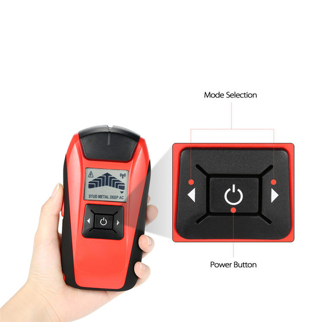 1pc Multifunctional Handheld LCD Wall Stud Finder Metal Wood Studs ...