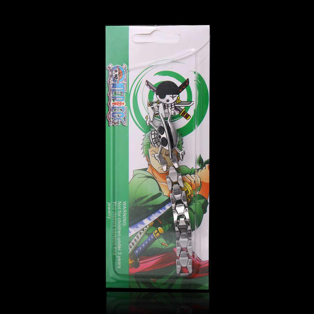 H & F SıCAK satış yüksek kalite anime One Piece gümüş kaplama alaşım bilezik kafatası charm bilezik t Cosplay Aksesuarları