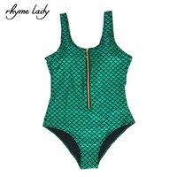 Rime Dame Vert Paisley D'une Seule Pièce Femmes Belle Maillots De Bain maillot de bain Femme Maillot de Bain Monokini Sexy Body Maillot de Bain
