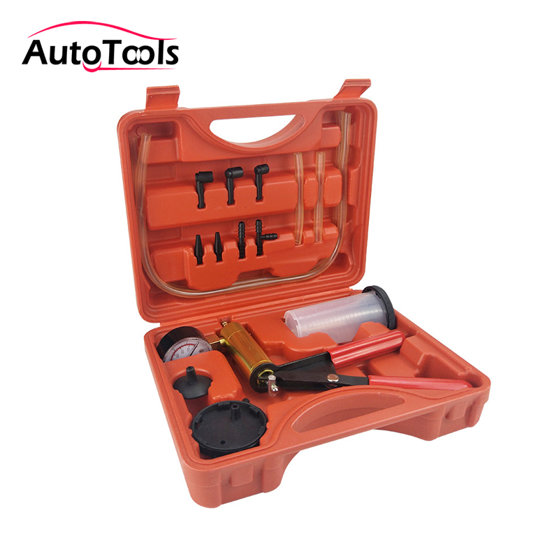 Multi functional Hand Held car Vacuum Pump Tester Set Brake Bleeder Bleeding Tool car Kit Diagnostic tool with Vacuum Gauge