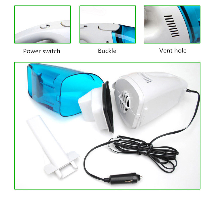 2018 Best Selling 2M 60W 12V Car Vacuum Cleaner Super Suction Wet And Dry Dual Use Vaccum Cleaner For Car / Office Desk