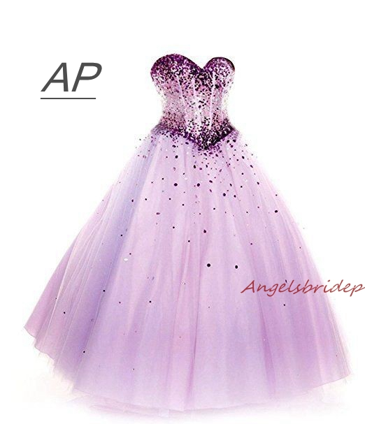ANGELSBRIDEP Sparking Crystal Quinceanera Dresses Vestidos De 15 Anos Sexy Sweetheart Full Length Debutante Gowns Plus