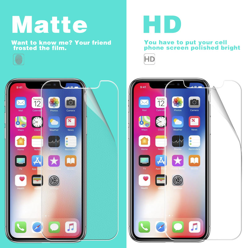 Glossy-Films Screen-Protector-Film Apple iPhone Anti-Fingerprint Matte-Film for XS Max