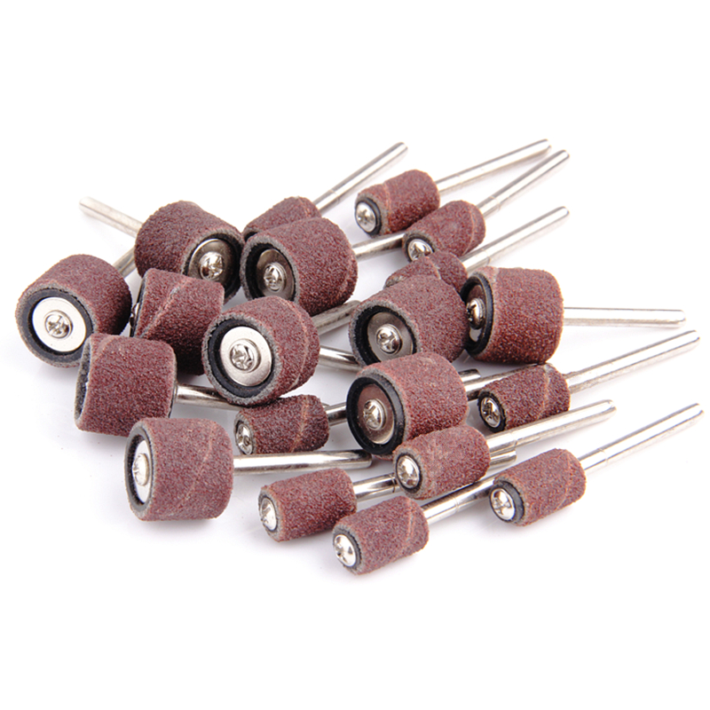 20db / készlet Csiszolókorong Dremel kiegészítők Csiszolókorong csiszolókorong fúró forgószerszámhoz, összekötő rudakkal, csiszolószerszámokkal