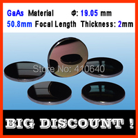 GaAs material focus len diameter 19.05 mm focus length 50.8 mm thickness 2 mm CO2 laser for laser Machine 3 pieces per lot