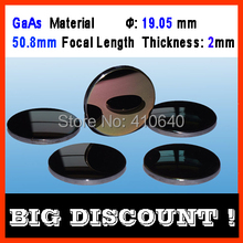 GaAs material diameter 19.05 mm focus length 50.8 thickness 2 CO2 laser len for  Machine 3 pieces per lot