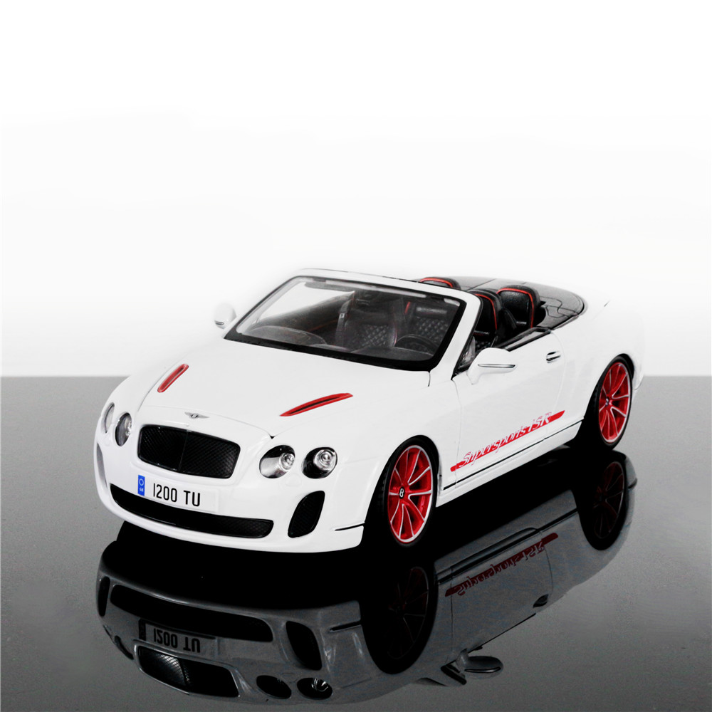 все цены на  1:18 Free Shipping Supercar The Bentley Continental ISR Diecast Car Model Toy Car Model  Car with Kid Toy High Quality  онлайн