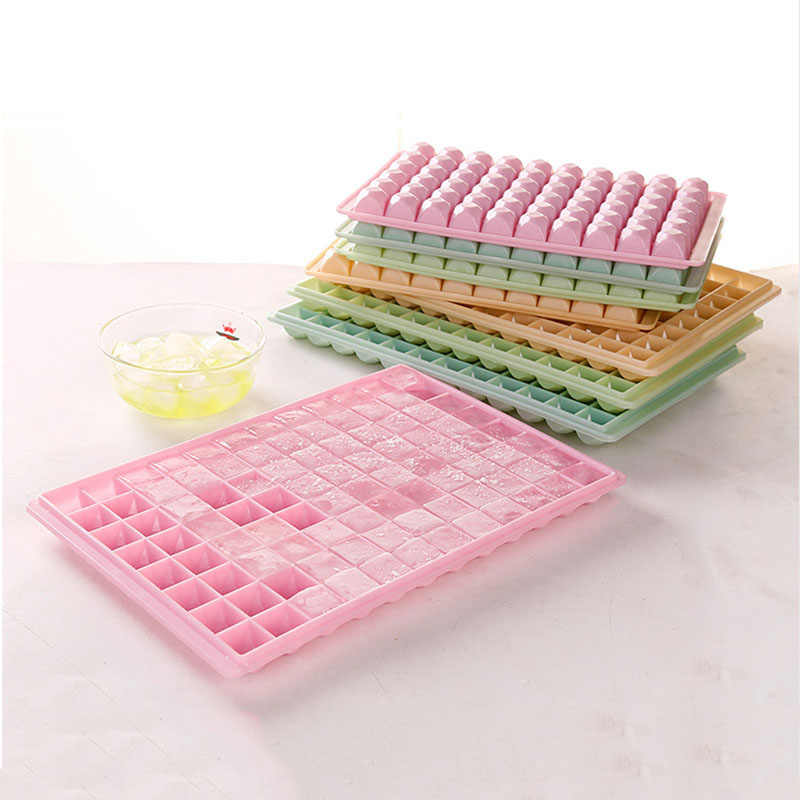 Hoomall 37/60 Grid Silicone Ice Cube Tray With Lids Bendable Ice Cream Party Cocktail Bar Ice Maker Mold Fridge Ice Mould