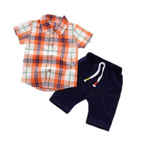 цена на AJLONGER Baby Boys Clothing Sets Summer Children's T Shirts + Shorts Suits Sports Kids Clothes Fashion Clothes