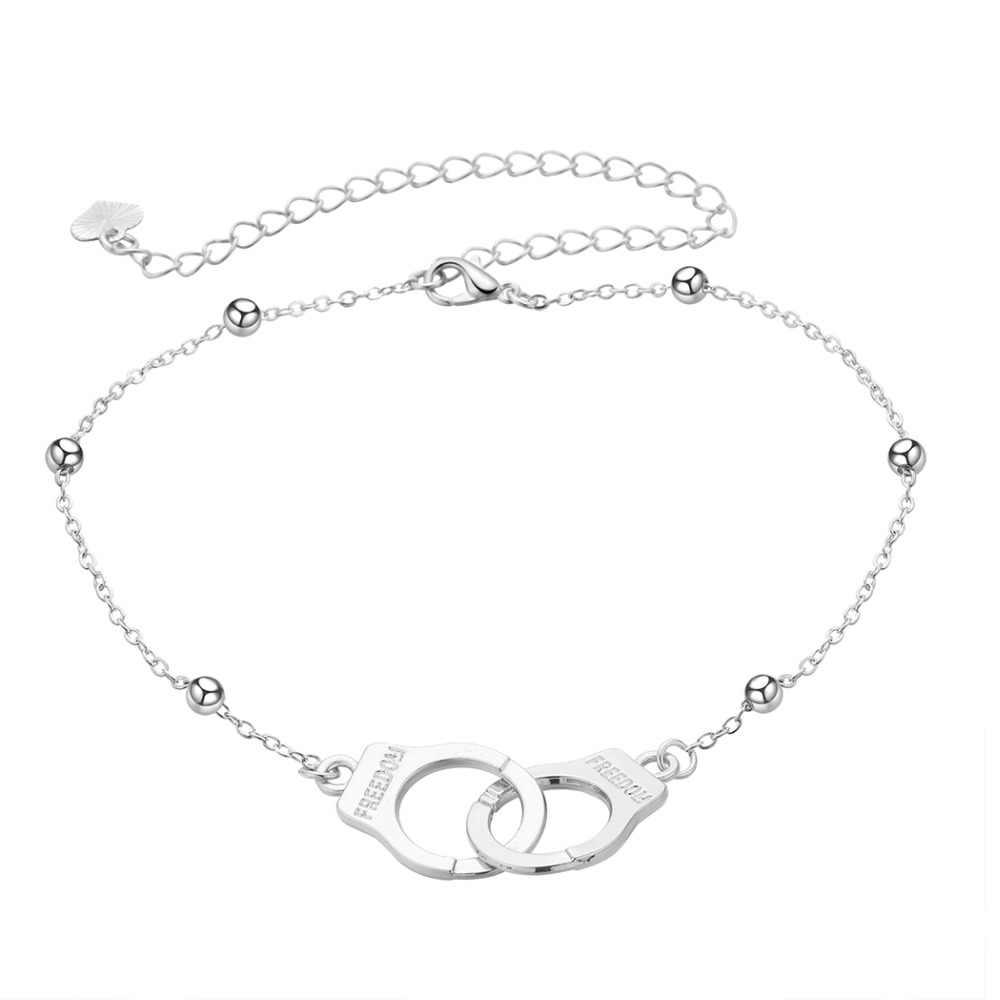 QIAMNI пляж сексуальные наручники бусы, браслет стопы Lover ног цепь для девочек Для женщин летом пару украшений Рождественский подарок