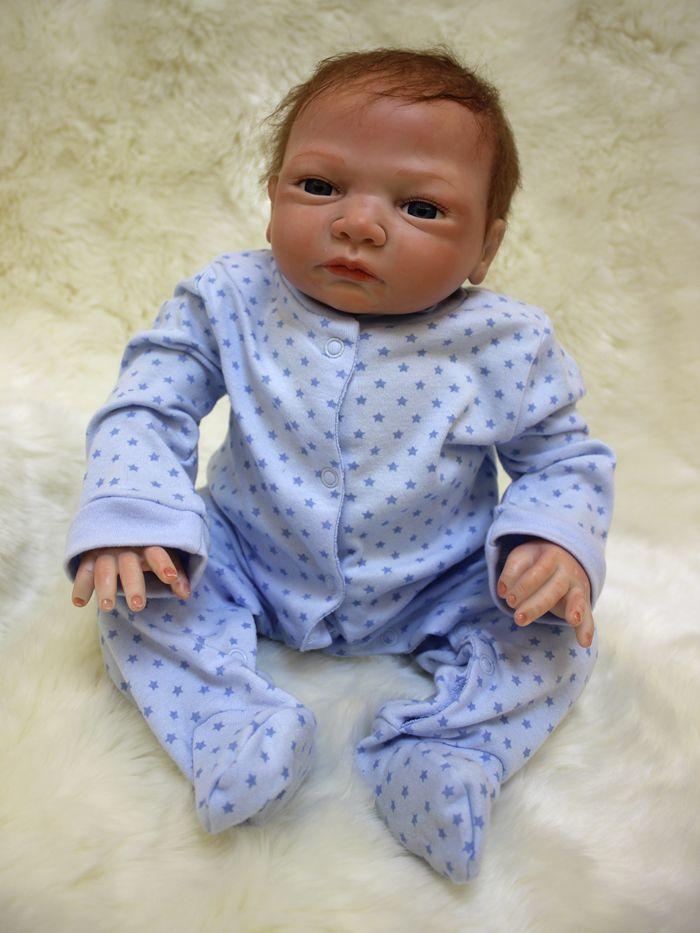 8a30f7373970 Silicone Reborn Baby Dolls Toy Lifelike Exquisite Soft Body Newborn ...