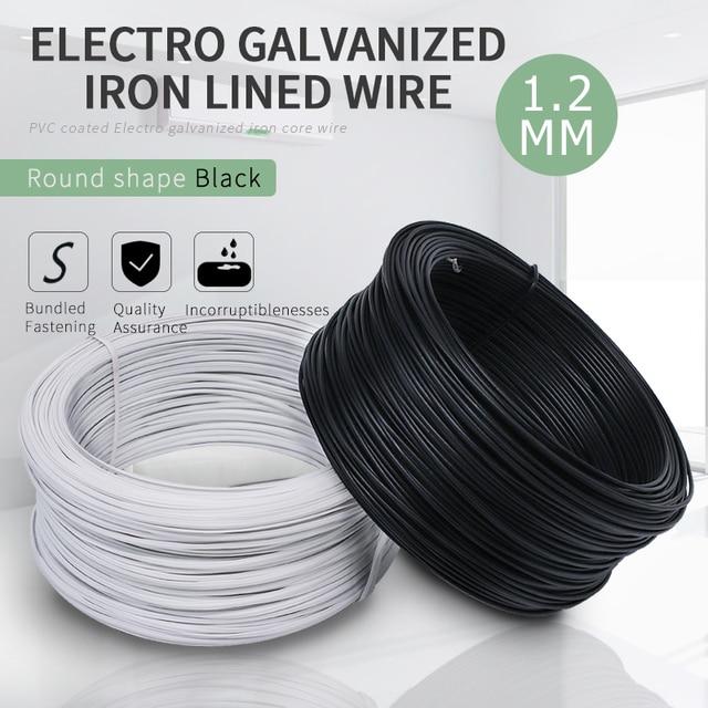 30Meters/lot 1.2MM Dia. Black Circular PVC Coated Electro Galvanized ...