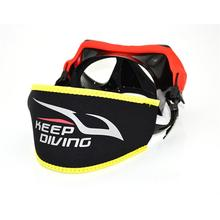 Неопреновая Маска для подводного плавания с ремешком на голову, защитная маска с подкладкой для длинных волос, обертка для дополнительного комфорта, оборудование