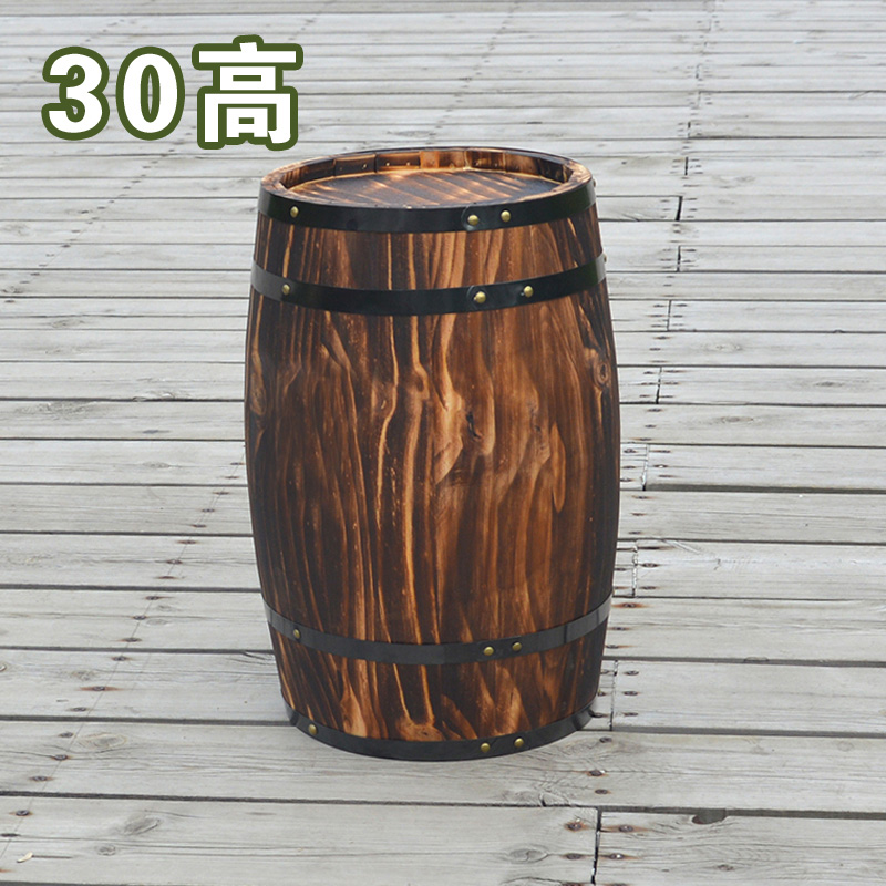 Oak 30cm high decorative wood wedding photography props grape cask wine barrel custom bar