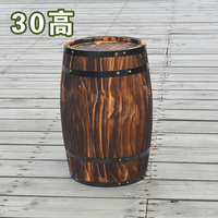 XXXG Oak 30cm high decorative wood wedding photography props grape cask wine cask barrel custom bar