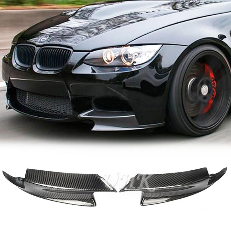 UHK 3 Series E90 E92 M3 Carbon Fiber Front Splitter Aprons Bumper Lip Spoiler For BMW E90 Sedan E92 Coupe E93 Racing olotdi carbon fiber front lip spoiler gts style front bumper for bmw e92 e93 m3 bumper car styling accessories factory