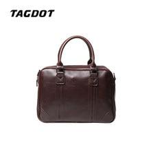 Tagdot brand Retro PU leather laptop bag Men 's Handbag Business Men' s Shoulder Messenger Bag Briefcase Computer Bag Men 's Bag