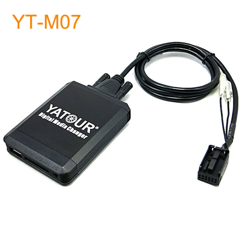 Yatour Car MP3 USB SD CD Changer for iPod AUX with Optional Bluetooth for Peugeot 207 307 308 407 607 807 3008 5008 yatour car mp3 usb sd cd changer for ipod aux with optional bluetooth for ford fiesta mondeo focus fusion galaxy transit tourneo