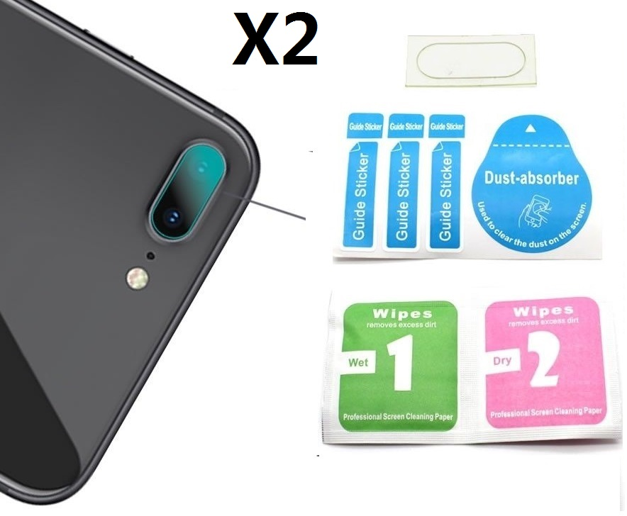 2pcs/lot For Apple IPhone 7/ 7Plus/ 8 / 8 Plus / X  Rear Big Camera Lens Tempered Glass Clear Protector Cover  9H