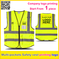 100% polyester knitted reflective safety vest fluorescent yellow vest free shipping