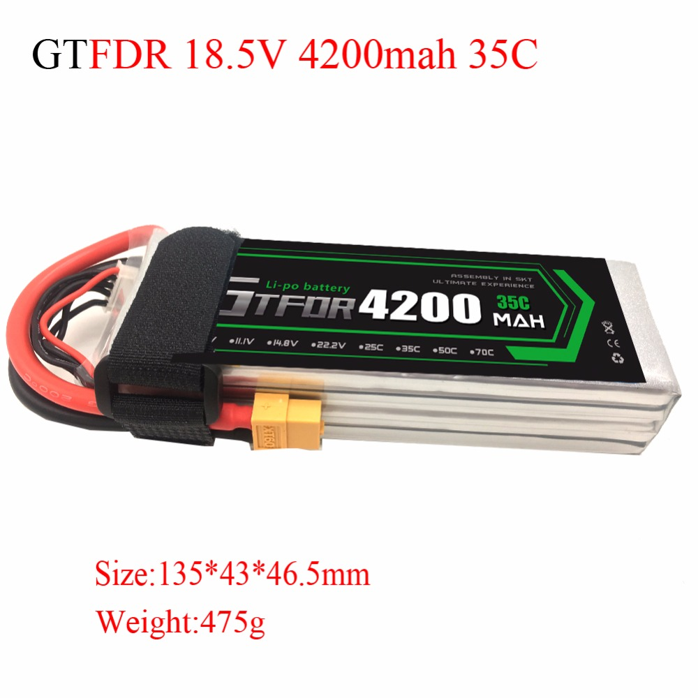GTFDR power RC Battery 5S Lipo 18.5V 4200mAh 35C Max 70C for Helicopter RC Lipo Battery Quadcopter Airplane CarGTFDR power RC Battery 5S Lipo 18.5V 4200mAh 35C Max 70C for Helicopter RC Lipo Battery Quadcopter Airplane Car
