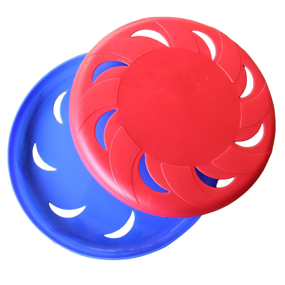 Pet Traning Products Pets Rotary Hollow Plastic Frisbee Dog Flying Disc Outdoor Playing Toy FEN#