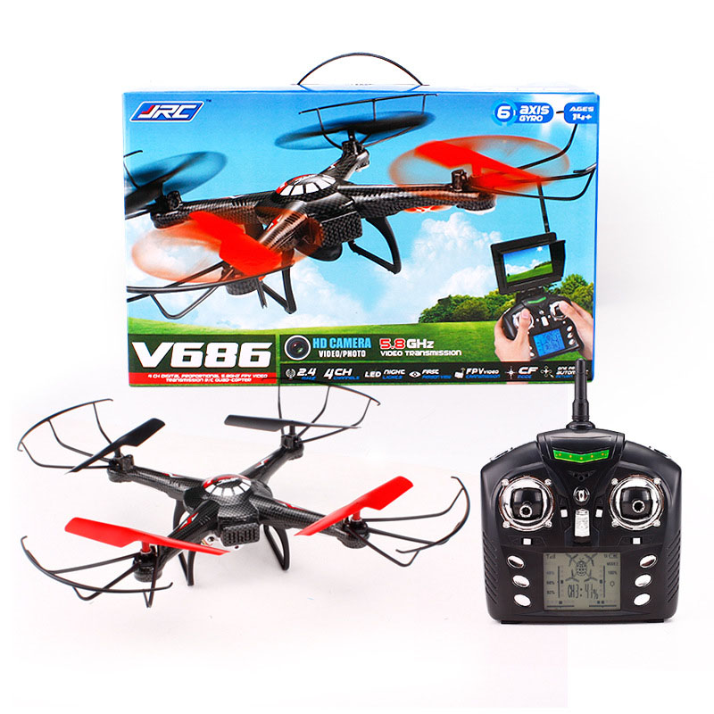 Mini Drone JJRC V686 5.8G FPV Headless Mode RC Quadcopter with HD Camera Monitor Headless Drone toys #yl  high quqlity jjrc v686 5 8g fpv headless mode rc quadcopter with hd camera monitor gift for children toys wholesale