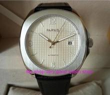 40mm parnis movimento mecânico automático relógios homens relógios de alta qualidade relógios de moda por atacado cristal de safira 276