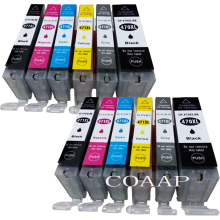 12 Pack PGI470 CLI471 PGI-470BK CLI-471 BK/C/M/Y/GY Compatible ink cartridge for CANON PIXMA MG5740 MG8640 TS5040 TS6040