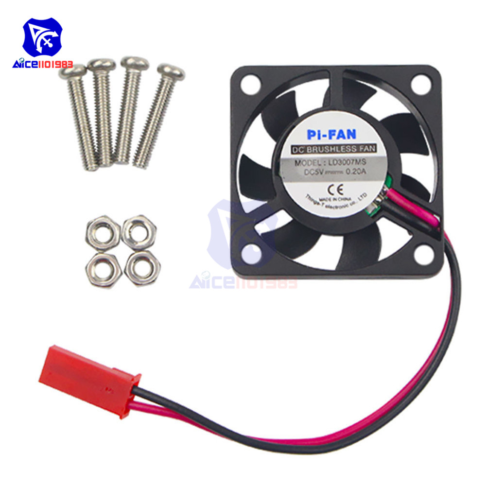 1Pcs <font><b>DC</b></font> 5V 0.2A Cooling Cooler Fan For Raspberry Pi Model A+ B B+ / FOR Raspberry Pi 2 3 With Screws Parts image