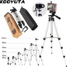 KOOYUTA Professional Aluminum Camera Tripod Stand Holder Phone Holder Nylon Carry Bag for iPhone Smartphone four floor high