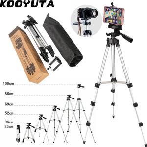 Image 1 - KOOYUTA profesyonel alüminyum kamera Tripod standı tutucu telefon tutucu naylon taşıma çantası iPhone Smartphone için dört kat yüksek