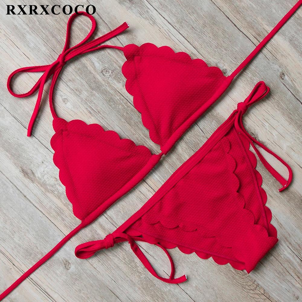 00939cef7626 RXRXCOCO 2019 nueva llegada vendaje Bikini Sexy Bikini Top de playa trajes  de baño Push Up trajes ...