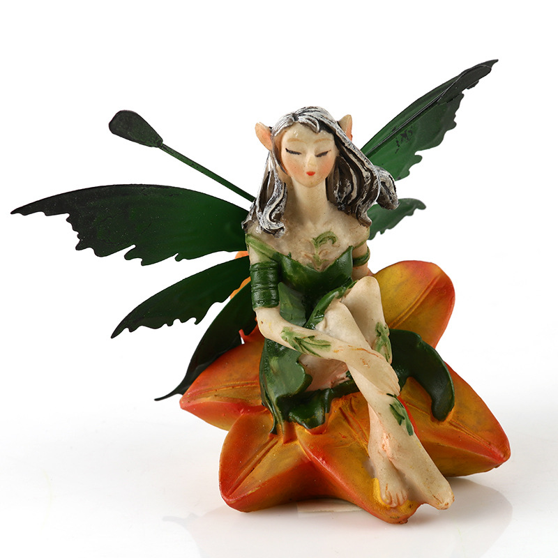 JAYQUERING Vintage Flower Fairy Home Decoration