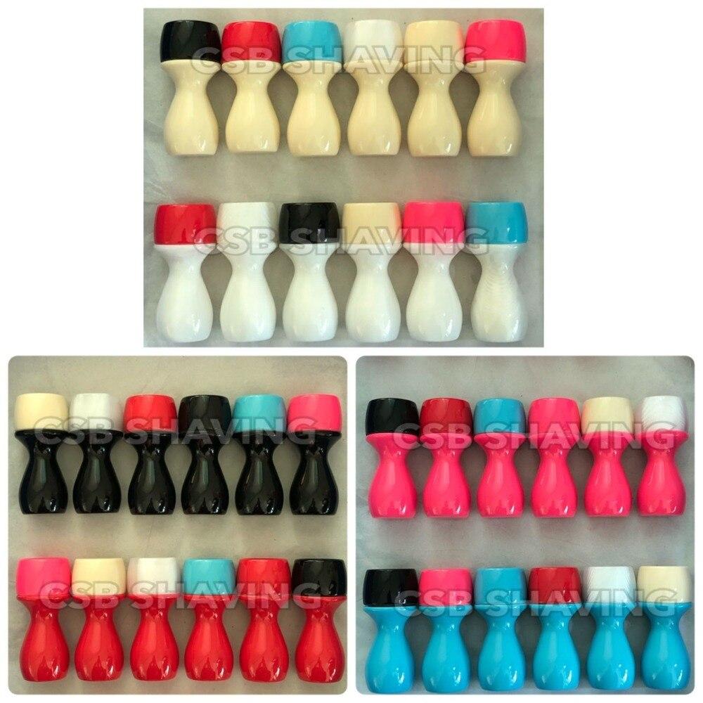 6pcs Shaving Brush Handle 26mm Resin 36 Colors Optional Colors DIY Accessories Barber Shop Hair Salon
