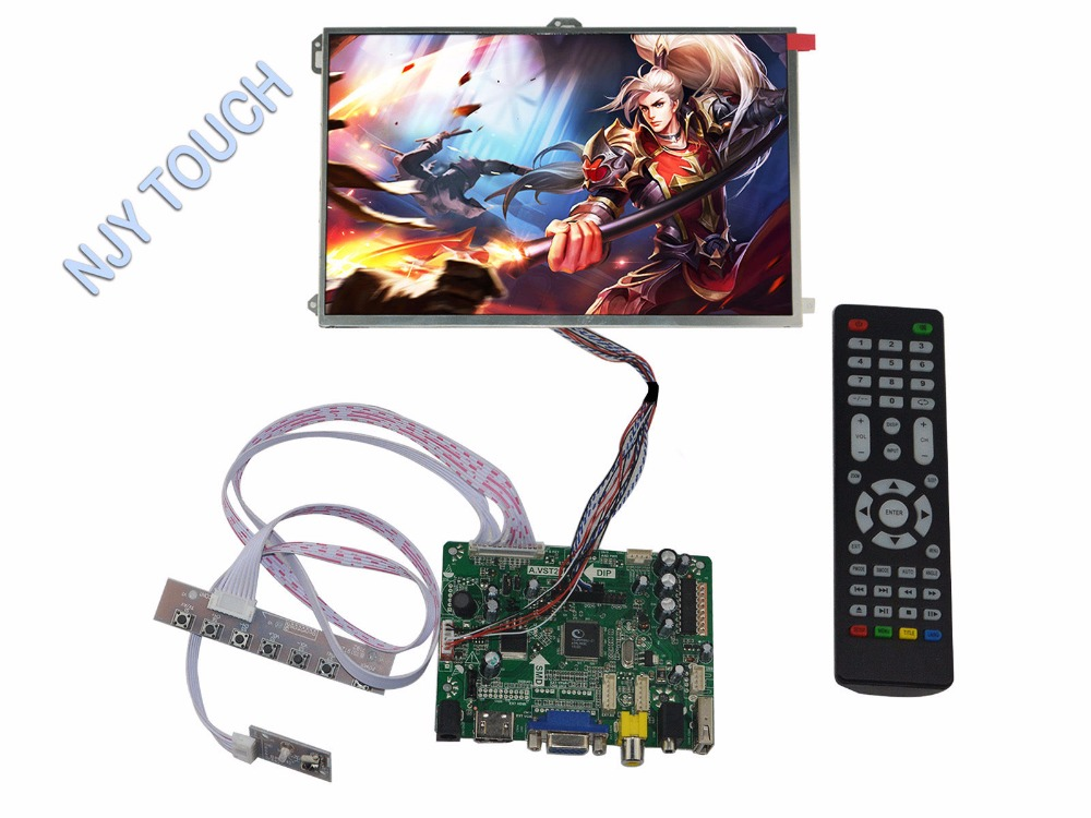 HDMI VGA AV Audio USB FPV LCD Controller Board kit plus 10.1inch LP101WX1-SLP2 IPS Panel купить