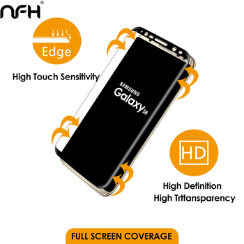 3D Original NFH Sensitive Reaction Tempered Glass For Samsung Galaxy S8 S8 Plus Screen Protective Protection Film Case On S 8 2