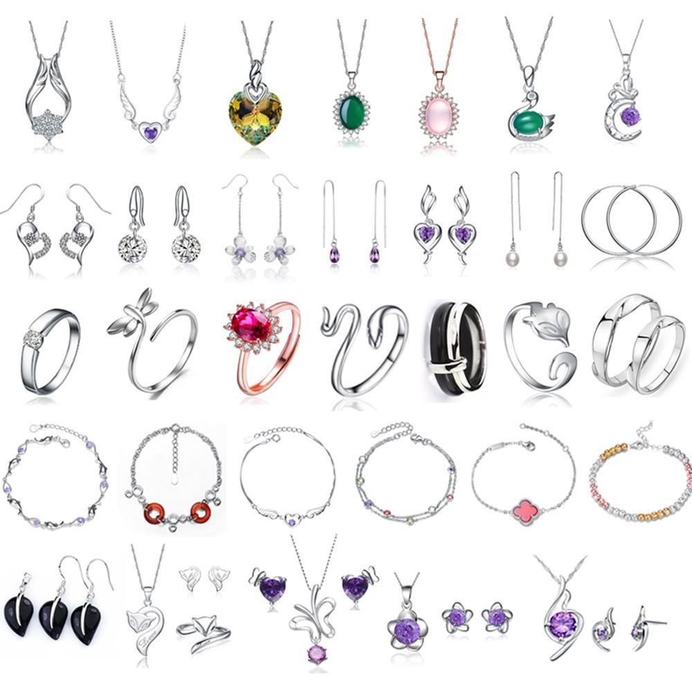 100% grantor 925 серебро мода с белого золота, серебро 925 ювелирных изделий, высокое качество